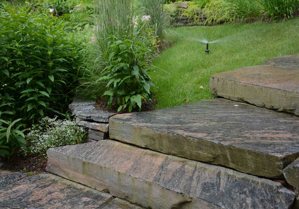 Irrigation and Granite Steps