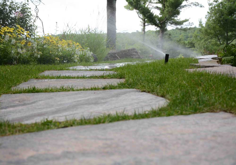 Stepping Stones with Irrigation