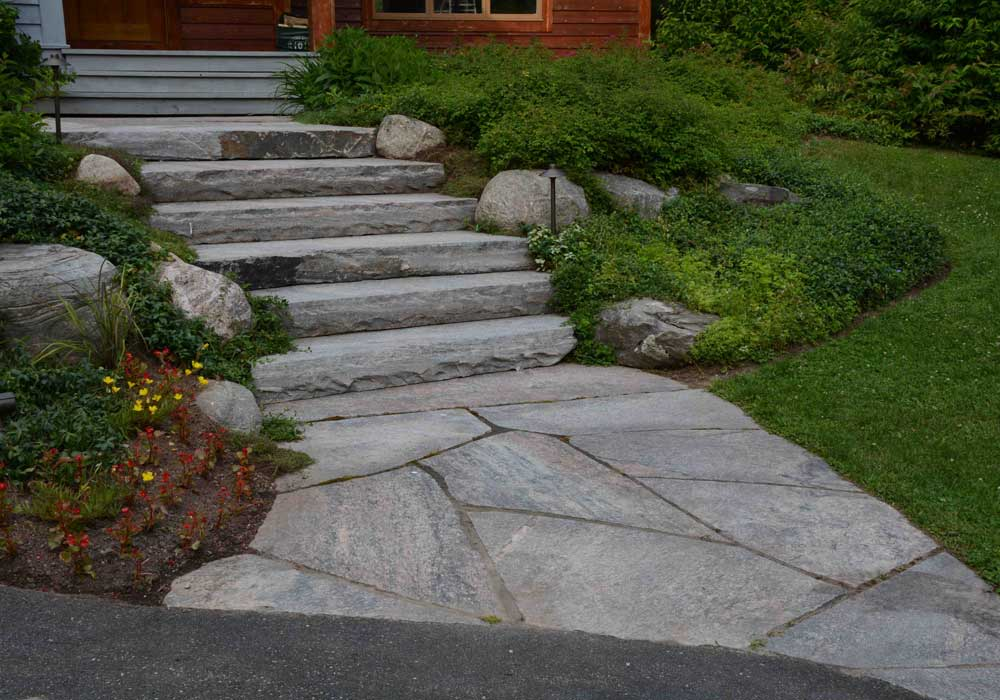 Stair Treads with Flagstone Landing