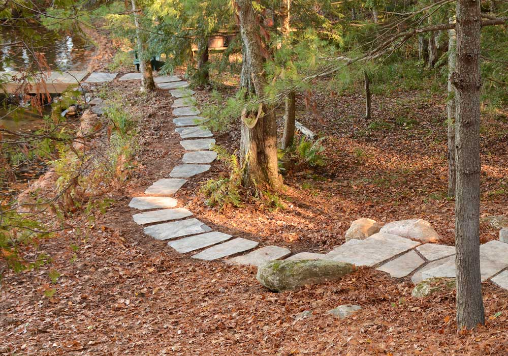 Lakeside Stepping Stone Pathway