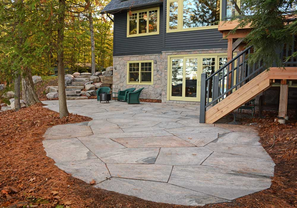 Tight Fit Granite Flagstone Patio