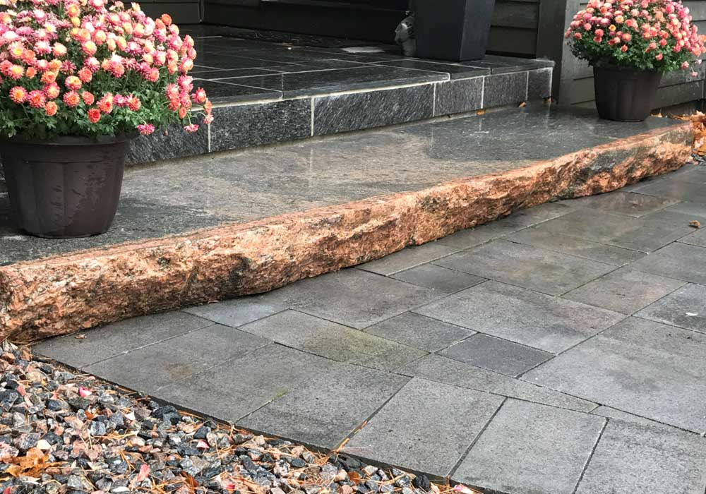 Unilock Pavers with Muskoka Granite Steps